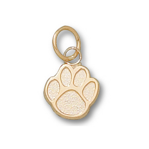 10kt Yellow Gold 3/8in Sam Houston State Paw Charm