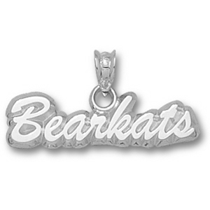 Sterling Silver 1/4in Sam Houston Bearkats Script Pendant