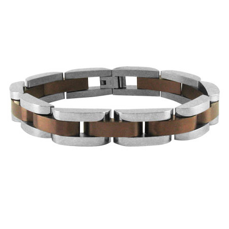 8.25in PVD Cappuccino Stainless Steel Bracelet
