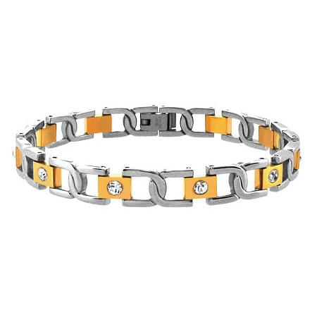 8in Greek Link Stainless Steel Bracelet