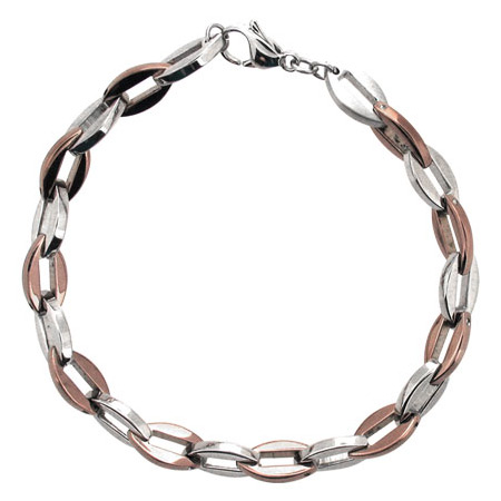 9in PVD Cappuccino Stainless Steel Bracelet