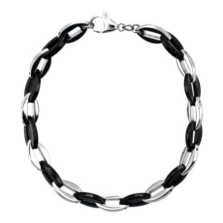 9in PVD Black Stainless Steel Bracelet