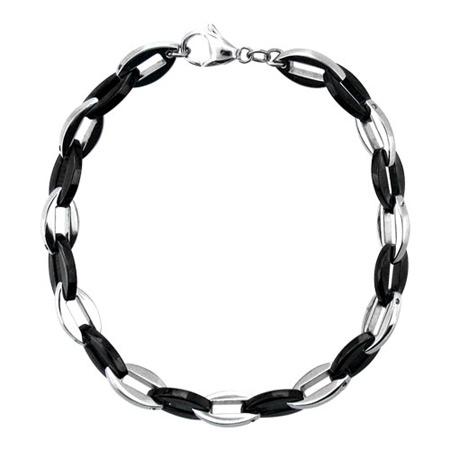 9in PVD Black Stainless Steel Bracelet