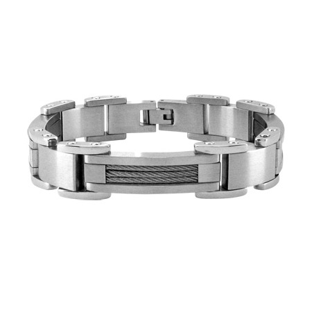 8.5in Cable Bracelet - Stainless Steel