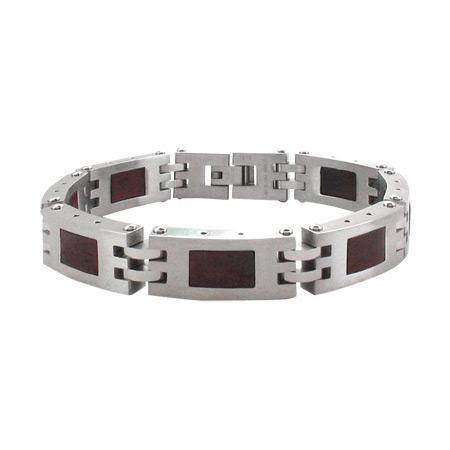 8.75in Sandal Wood Steel Bracelet