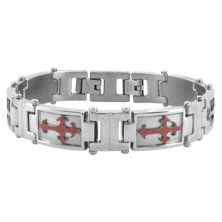 8 to 8 3/4in PVD Cappuccino Stainless Steel Bracelet