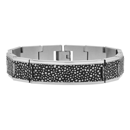 8.5in Fossil PVD Black Stainless Steel Bracelet