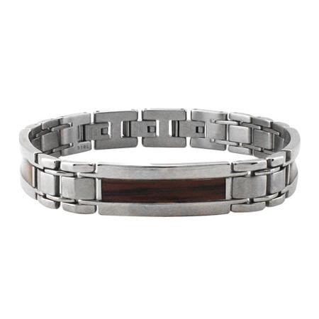 8 to 9 1/2in Sandal Wood Steel Bracelet