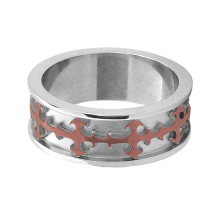 Gothic Ring with PVD Cappuccino - Stainless Steel