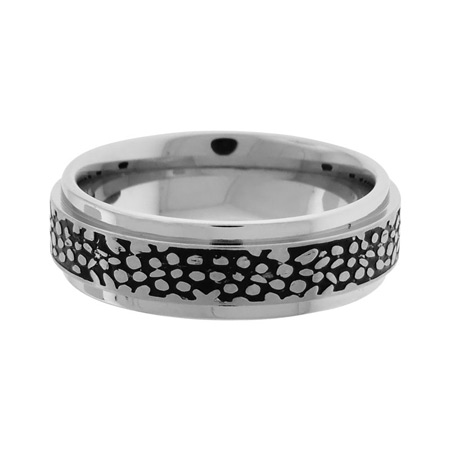 Fossil IP Black Ring - Stainless Steel