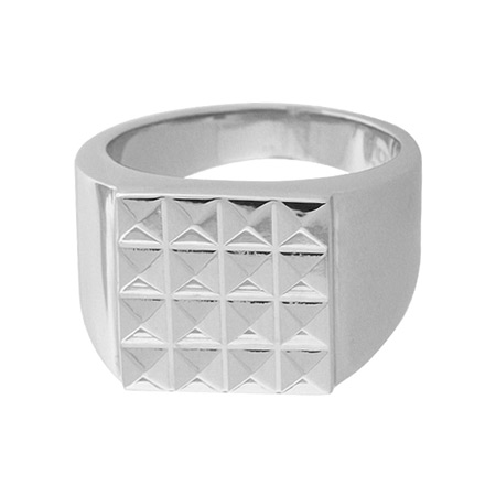 Pyramid Stainless Steel Ring