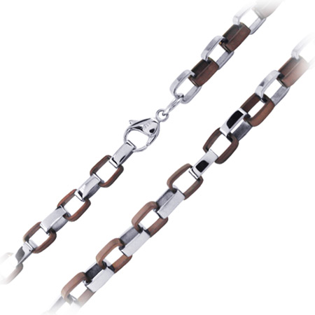 22in IP Cappuccino Necklace - Stainless Steel