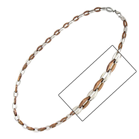 24in PVD Cappuccino Necklace - Stainless Steel