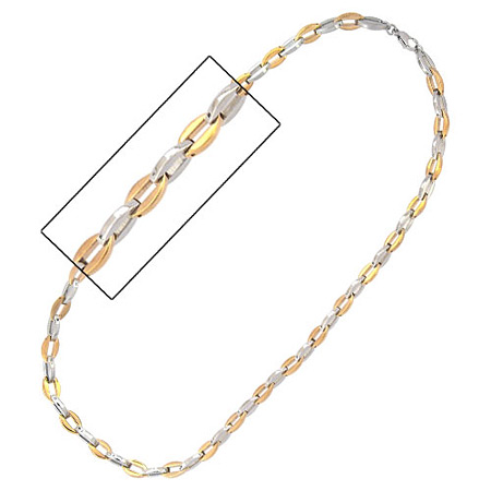 24in PVD Gold Necklace - Stainless Steel