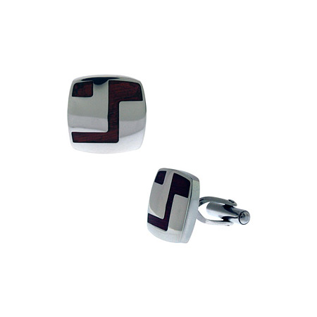 Sandal Wood Cufflinks - Stainless Steel