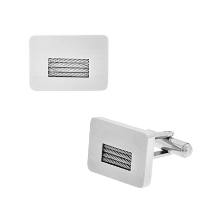 Cable Cufflinks - Stainless Steel