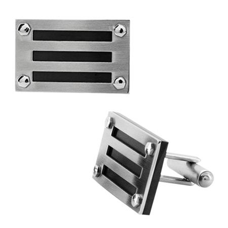 Manhattan Black Ion Plated Cufflinks - Stainless Steel