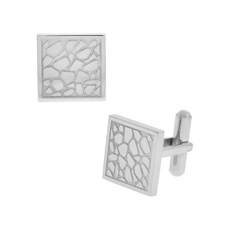 Cobblestone Cufflinks - Stainless Steel