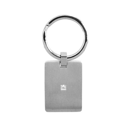 Cubic Zirconia Key Chain - Stainless Steel