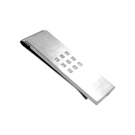 Cubic Zirconia Money Clip - Stainless Steel