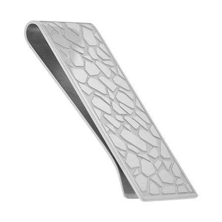 Cobblestone Money Clip - Stainless Steel