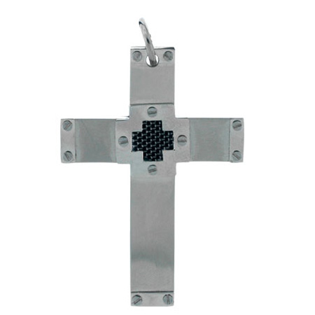 Jumbo 2 1/2in Steel Cross with Screw Accents