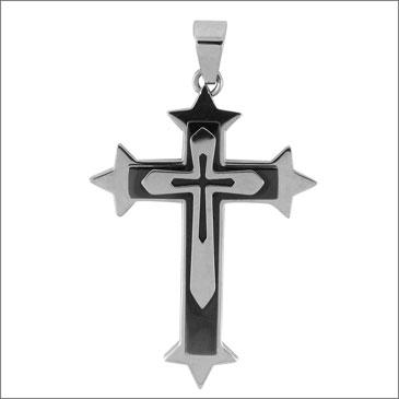Jumbo 1 3/4in Gothic Steel Cross