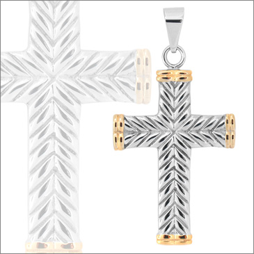 2in Gold-Plated Steel Cross
