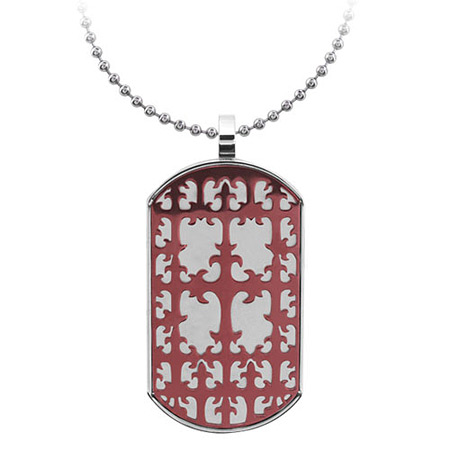 2in Gothic PVD Cappuccino Dog Tag - Stainless Steel