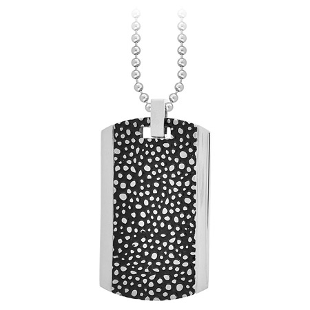 Fossil IP Black Pendant - Stainless Steel