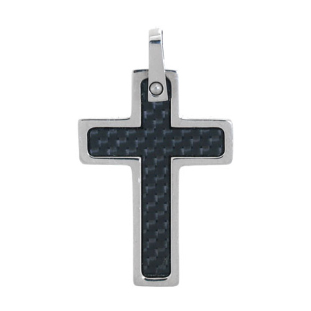 1 1/2in Carbon Fiber Stainless Steel Cross