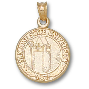 San Jose State 5/8in Pendant 10kt Yellow Gold