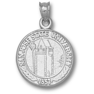 Sterling Silver 5/8in San Jose State University Seal Pendant