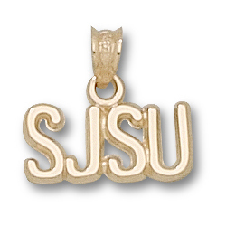 San Jose State 1/4in Pendant 10kt Yellow Gold
