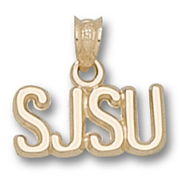 San Jose State 1/4in Pendant 14kt Yellow Gold