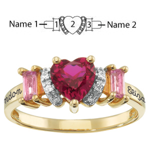 Smitten Promise Ring 14kt Yellow Gold