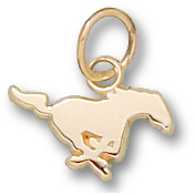 SMU 1/4in Mustang Pendant 10kt Yellow Gold