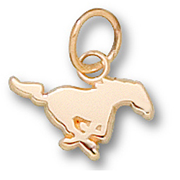 SMU 1/4in Mustang Pendant 14kt Yellow Gold