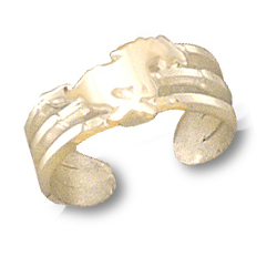 SMU Mustang Toe Ring 10kt Yellow Gold