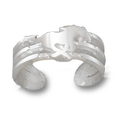 Sterling Silver SMU Mustang Toe Ring