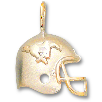 SMU 3/4in Football Pendant 14kt Yellow Gold