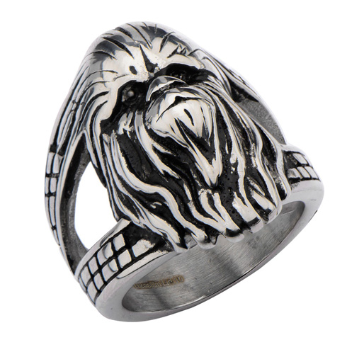 Stainless Steel Star Wars 3D Chewbacca Face Ring