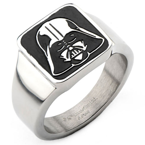 Stainless Steel Star Wars Darth Vader Signet Ring