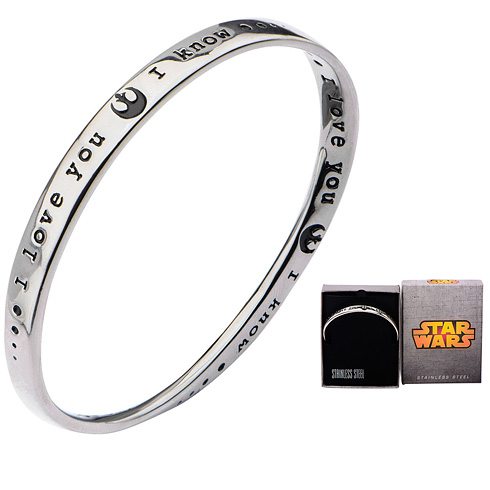 Stainless Steel Star Wars I love you. I know. Small Mobius Bracelet