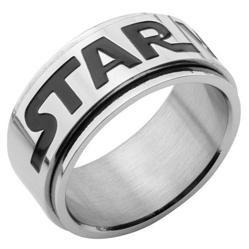 Stainless Steel Star Wars Logo Spinner Ring
