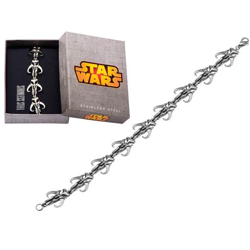 Stainless Steel Star Wars Mandalorian Symbol Bracelet