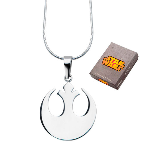 Stainless Steel Small Star Wars Rebel Alliance Symbol Pendant with 20in Chain