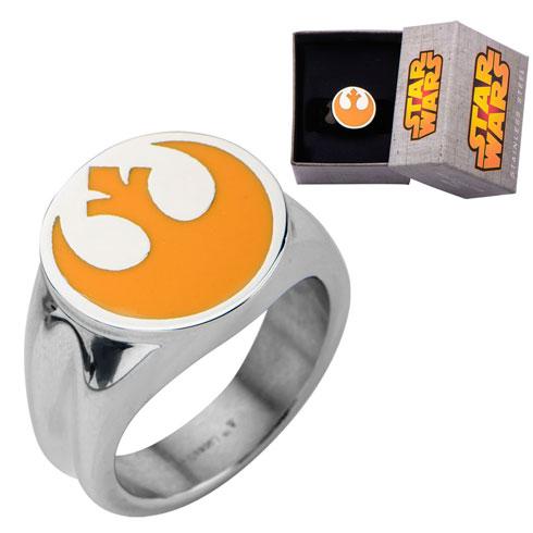 Stainless Steel Star Wars Rebel Alliance Symbol Ring