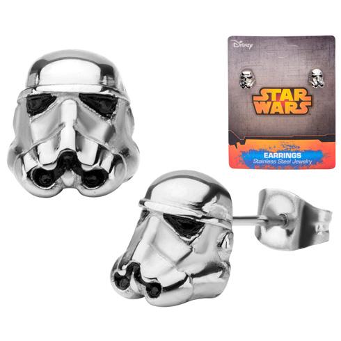 Stainless Steel Star Wars 3D Storm Trooper Stud Earrings