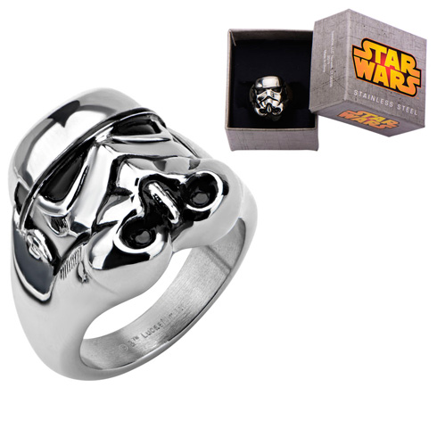 Stainless Steel Star Wars 3D Storm Trooper Ring